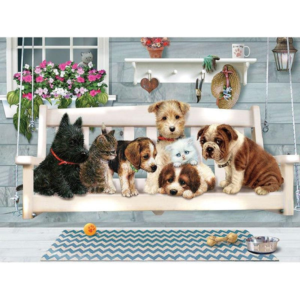 2019 5D Diy Diamond Painting Kits Lovely Dog Cat VM90203