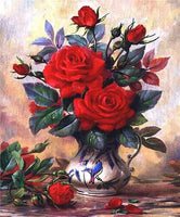 2019 5d Diy Diamond Painting Kits Flowers Wall Decor Red VM4011 (1767020200026)