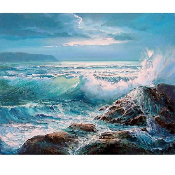 2019 5d Diy Diamond Painting Kits Landscape Nature Beach VM4095 (1767036878938)
