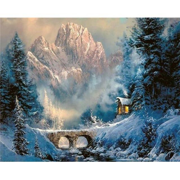 2019 5d Diy Diamond Painting Kits Landscape Nature Mountain  VM4097
