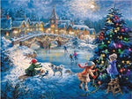 5D Diy  Diamond Painting Kits Winter Christmas Tree Village NA0237
