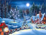 5d DIY Diamond Painting Winter Dream Christmas Village NA0238