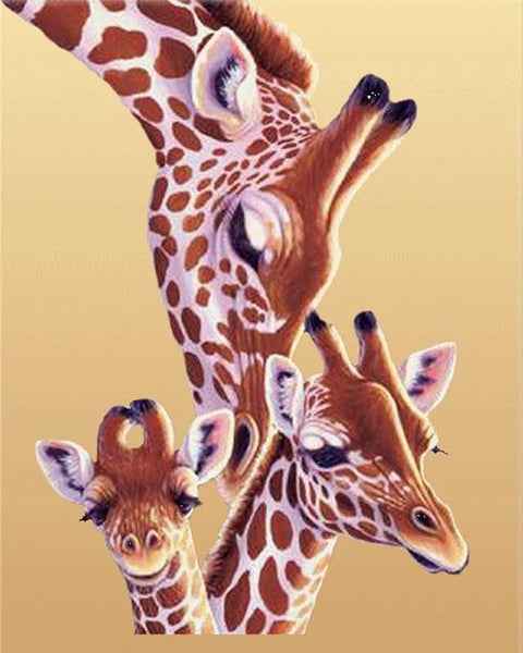 2019 5d Diy Diamond Painting Kits Giraffe And Babies VM9895