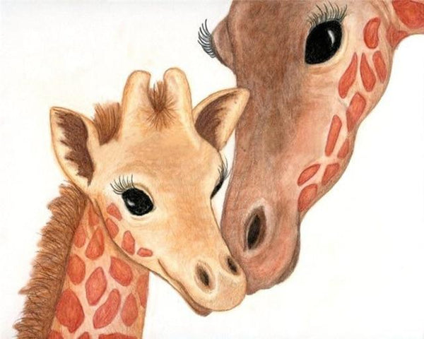 2019 5d Diy Diamond Painting Kits Giraffe Family In Love VM9893