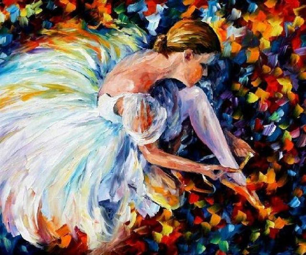 Oil Painting Style Dancer Girl 5d Diy Cross Stitch Diamond Painting Kits NA0930