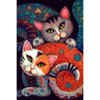 5D Diy Diamond Embroidery Mosaic Cartoon Cat VM90783