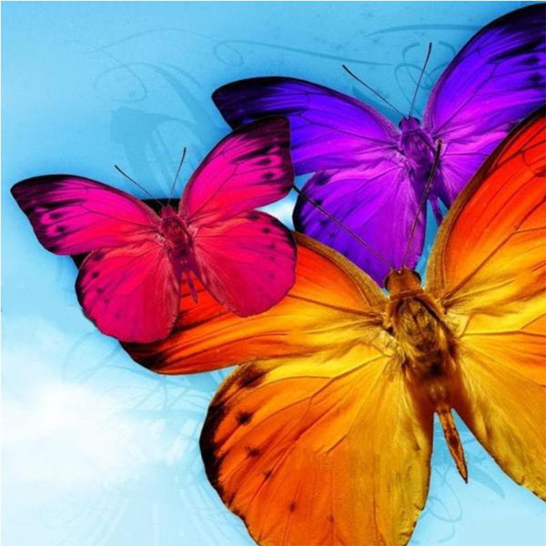 2019 5D DIY Diamond Painting Kits Embroidery Art Colorful Butterfly VM90871