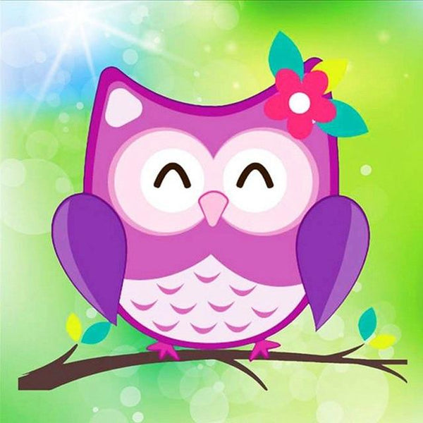 2019 5d DIY Rhinestone Art Cartoon Cute Colorful Owl  Diy VM1926 (1766960627802)