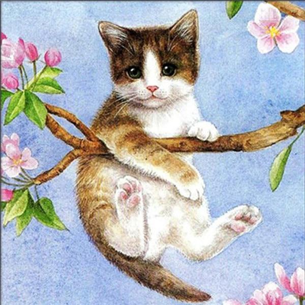 New Arrival Hot Sale Pet Cat Gift 5d Diy Diamond Painting Kits VM20243