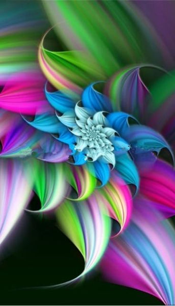 5d Diy Diamond Painting Kits Abstract Flower VM99061