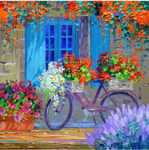 5d Diamond Painting Set Watercolor Garden Door Diy  VM34999
