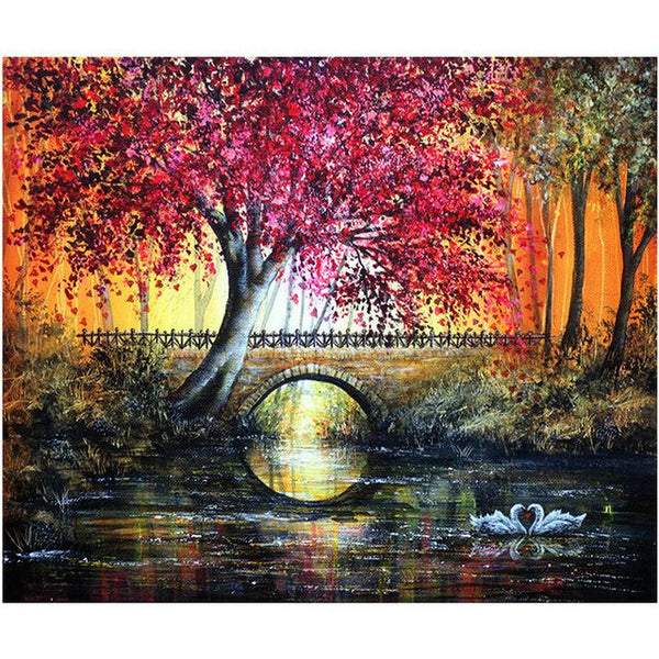 Fantasy Dream Landscape Nature Tree Forest 5d Diy Diamond Painting Kits VM9017