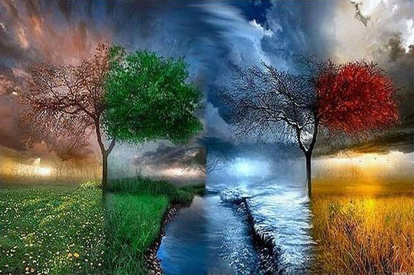 Fantasy Dream Four Seasons Tree Sky 5d Diy Diamond Painting Kits VM9013