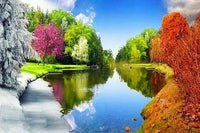 Dream Hot Sale Landscape Nature Lake 5d Diy Diamond Painting Kits VM9016