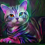 2019 5d Diy Diamond Painting Kits Special Colorful Cat VM20490