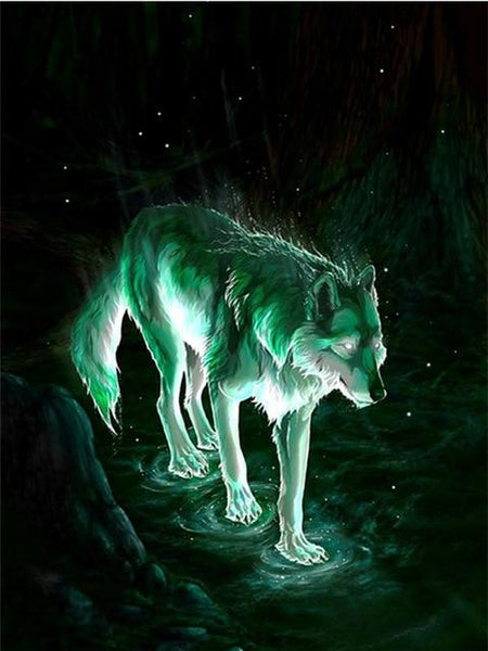 2019 5d Diy Diamond Painting Kits Cool Wolf Picture VM8274