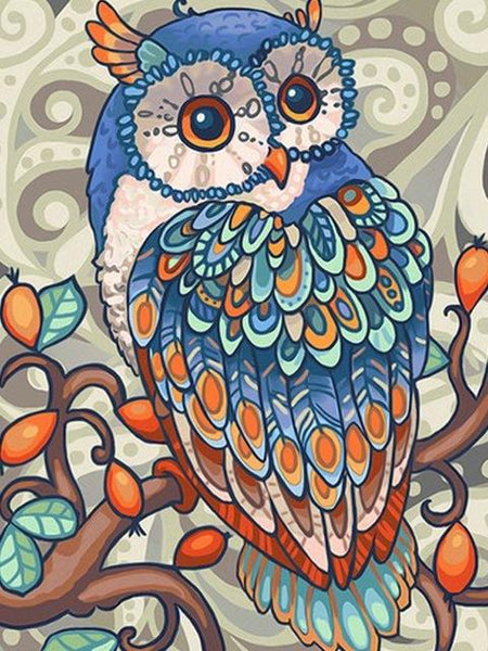 2019 5d Diy Diamond Painting Kits Blue Owl VM8203
