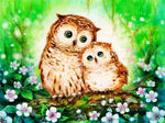 2019 5d Diy Diamond Painting Kits Cute Owl Animal  VM8200