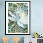 Modern Art Dragonfly 5D Diy Cross Stitch Diamond Painting Kits NA0106