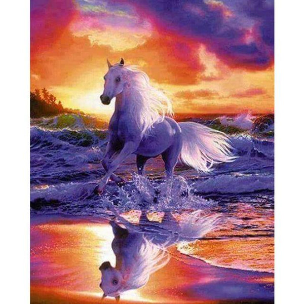 2019 5d Diy Diamond Painting Kits Horse Sunset VM9113
