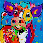 Oil Painting Style Cow 5D Diy Embroidery Cross Stitch Diamond Painting Kits NA0212