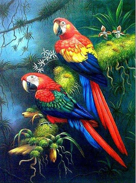 New Arrival Hot Sale Colored Parrot 5d Diy Diamond Painting Cross Stitch Kits Bird VM3641