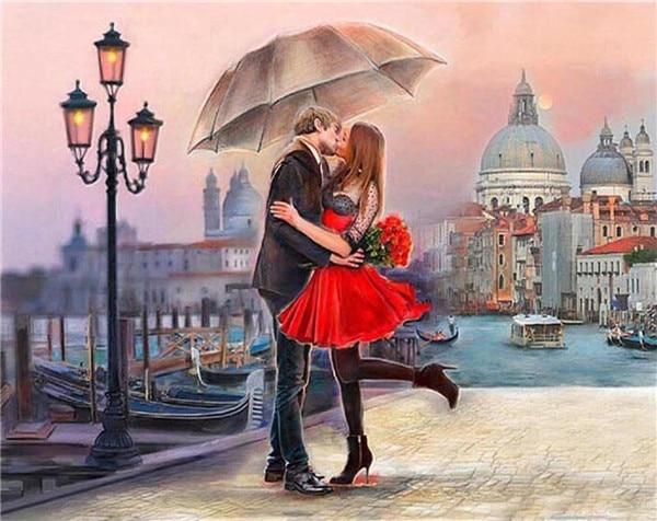 2019 5d Diy Diamond Painting Kits Oil Painting Style Romantic Lover VM3634 (1767004635226)