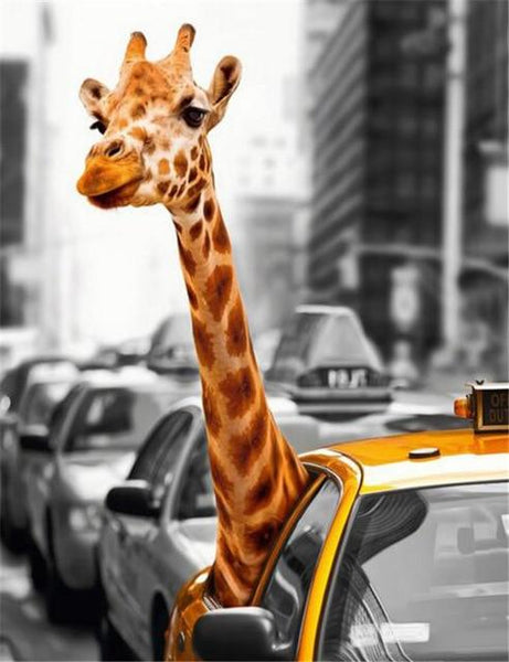2019 5d Diy Diamond Painting Kits Giraffe In the Car VM3632