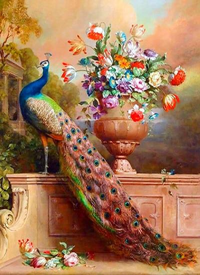 5d DIY Diamond Painting Kits Animal Peacock Picture VM9003