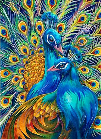 5d Diy Diamond Painting Kits Special Animal Peacock VM8160