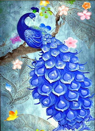 2019 5d Diy Diamond Painting Kits Peacock Picture VM8158