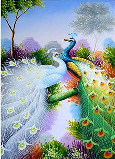 5d DIY Diamond Painting Kits Animal Peacock VM9004