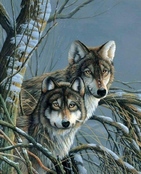 2019 5d Diy Diamond Painting Wolf Kits Various Sizes VM8634