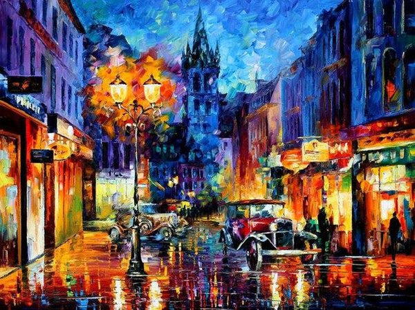 2019 5d Diy Diamond Painting Kits Oil Painting Style Night Street Landscape VM9956