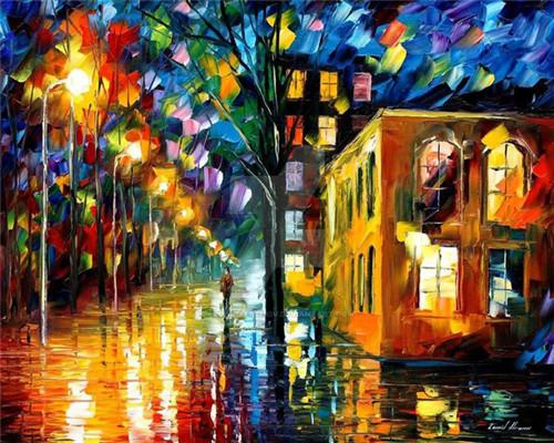2019 5d Diy Diamond Painting Kits Oil Painting Style Night Street VM9957
