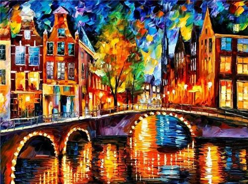 2019 5d Diy Diamond Painting Kits Night Street Landscape VM9955