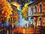 Home Decorate Oil Painting Style Night Street 5d Diy Diamond Painting Kits VM9954