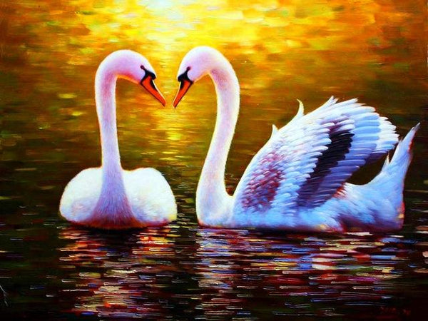 5d Diy Diamond Painting Kits  Animal Swan VM9152