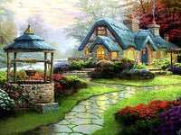 2019 5d Diy Diamond Painting Kits Cottage Landsacpe  VM9155