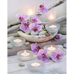 2019 5d Diy Diamond Painting Kits Flowers And Candles  VM09220