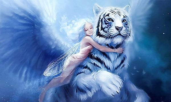 Fantasy Dream Beauty And Animal Tiger 5d Diy Diamond Painting Kits VM7387