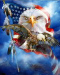 2019 5d Diy Diamond Painting Kits Eagle Flag VM9127