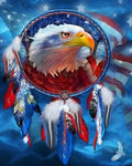 Eagle Animal 2019 Dream Catcher Wall Decoration 5d Diy Diamond Painting Kits VM9128