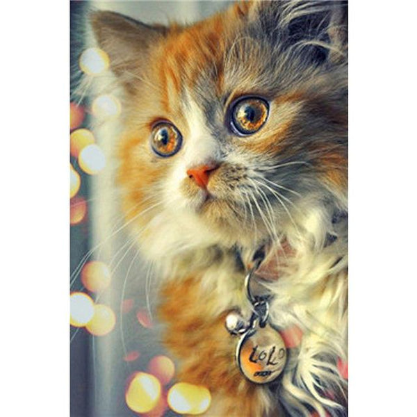 New Arrival Hot Sale Rhinestone Pet Cat 5d Diy Diamond Painting Kits VM8671