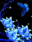 5d Embroidery New Arrival Dream Butterfly And Flowers Diy Diamond Painting Kits VM9025