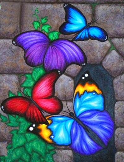 5d Embroidery Modern Art Hot Sale Butterfly Diy Diamond Painting Kits VM9027