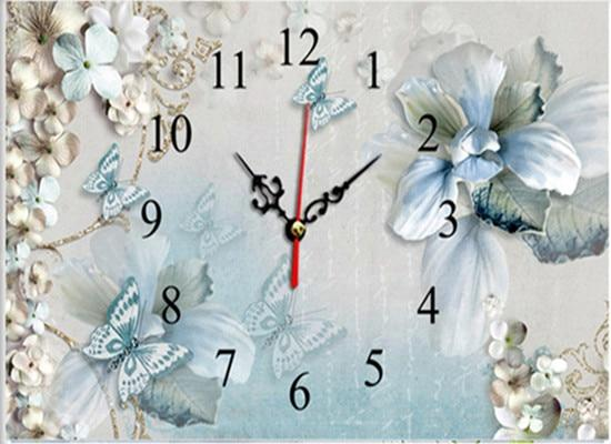 5d New Arrival Dream Butterfly And Clock Diy Diamond Painting Kits VM9032