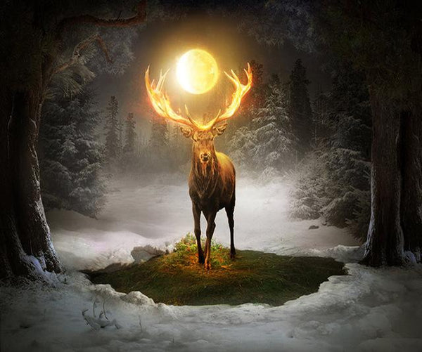 2019 5d Diy Diamond Painting Kits Fantasy Deer In The Woods VM8931