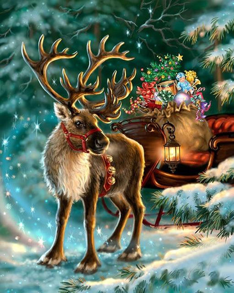 2019 5d Diy Diamond Painting Kits  Christmas Deer VM8933