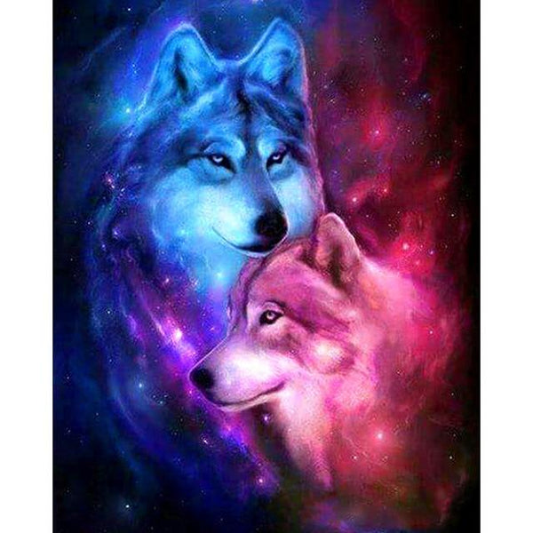 5d Rhinestone Art Hot Sale Dream 5d DIY Diamond Painting Wolf Kits VM8512